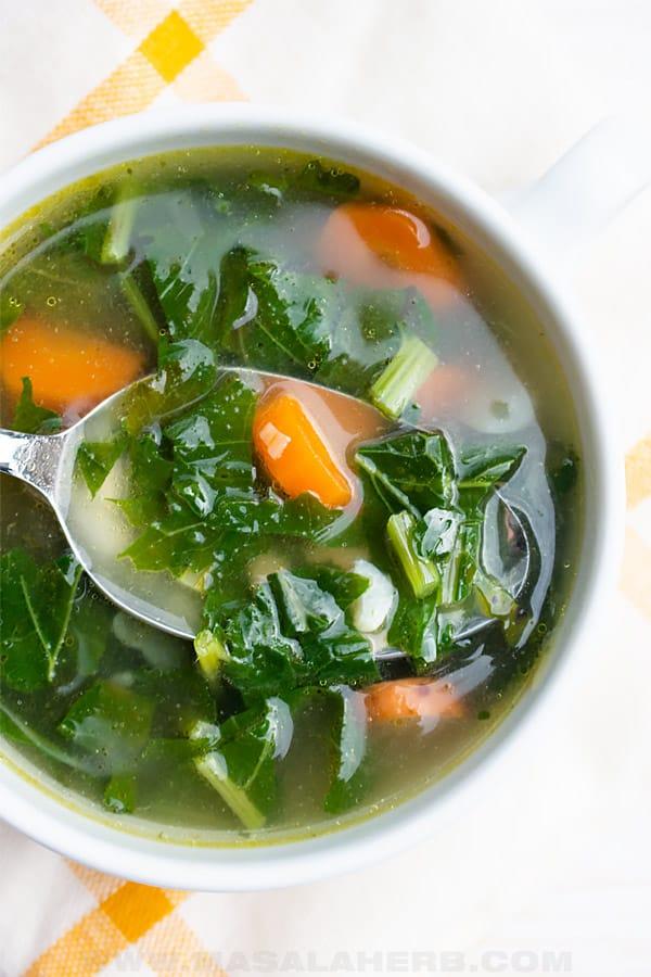 Fresh Turnip Green Soup Recipe