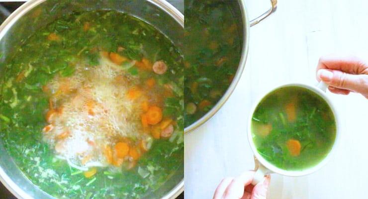 boil Turnip Green Soup