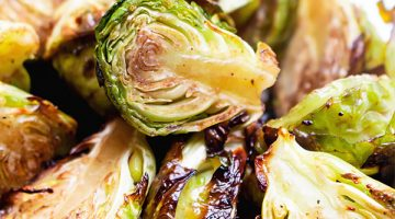brussels sprouts halves roasted in the oven