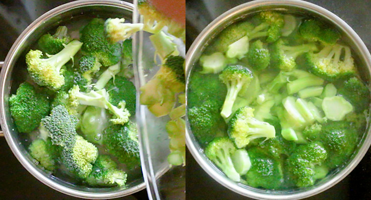 blanch broccoli