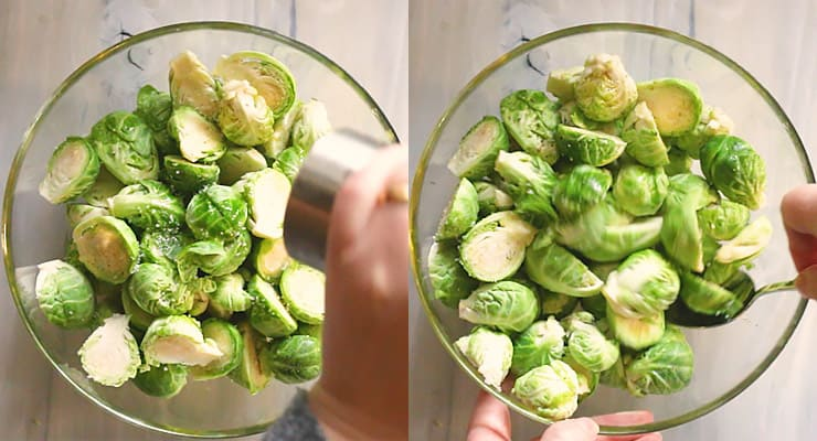 season brussels sprouts