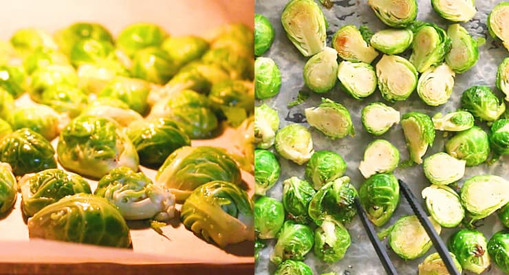 roasting Brussels sprouts in the oven