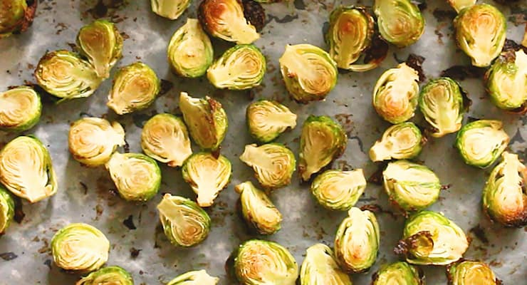roasted brussels sprouts turn up side up