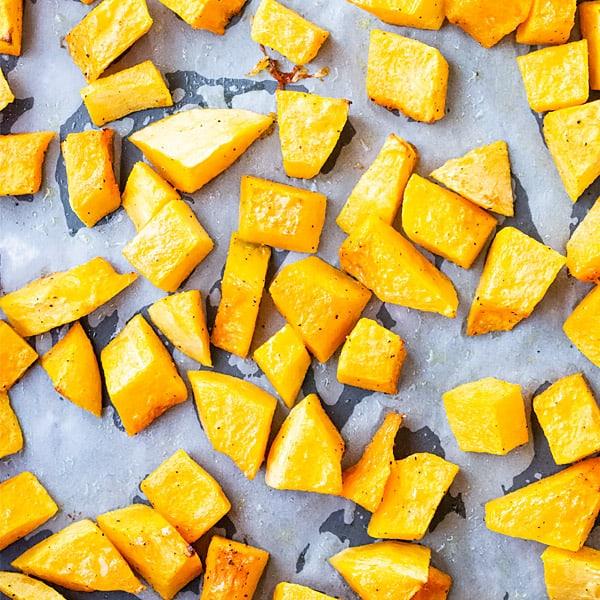 diced butternut squash pieces