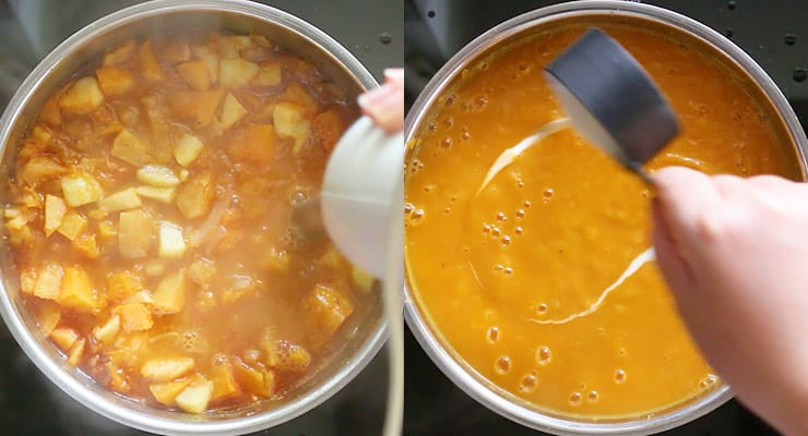 blend butternut squash soup smooth