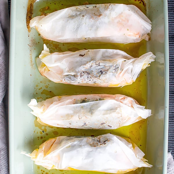 Salmon in Parchment with Herbs