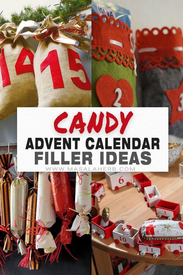 Candy Advent Calendar Filler Ideas