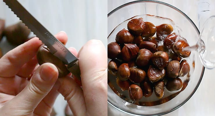 how to prepare roasted chestnuts