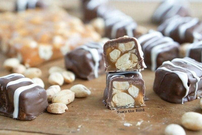 Salted Peanut Caramels