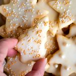 sugar cookies in tree and star shape
