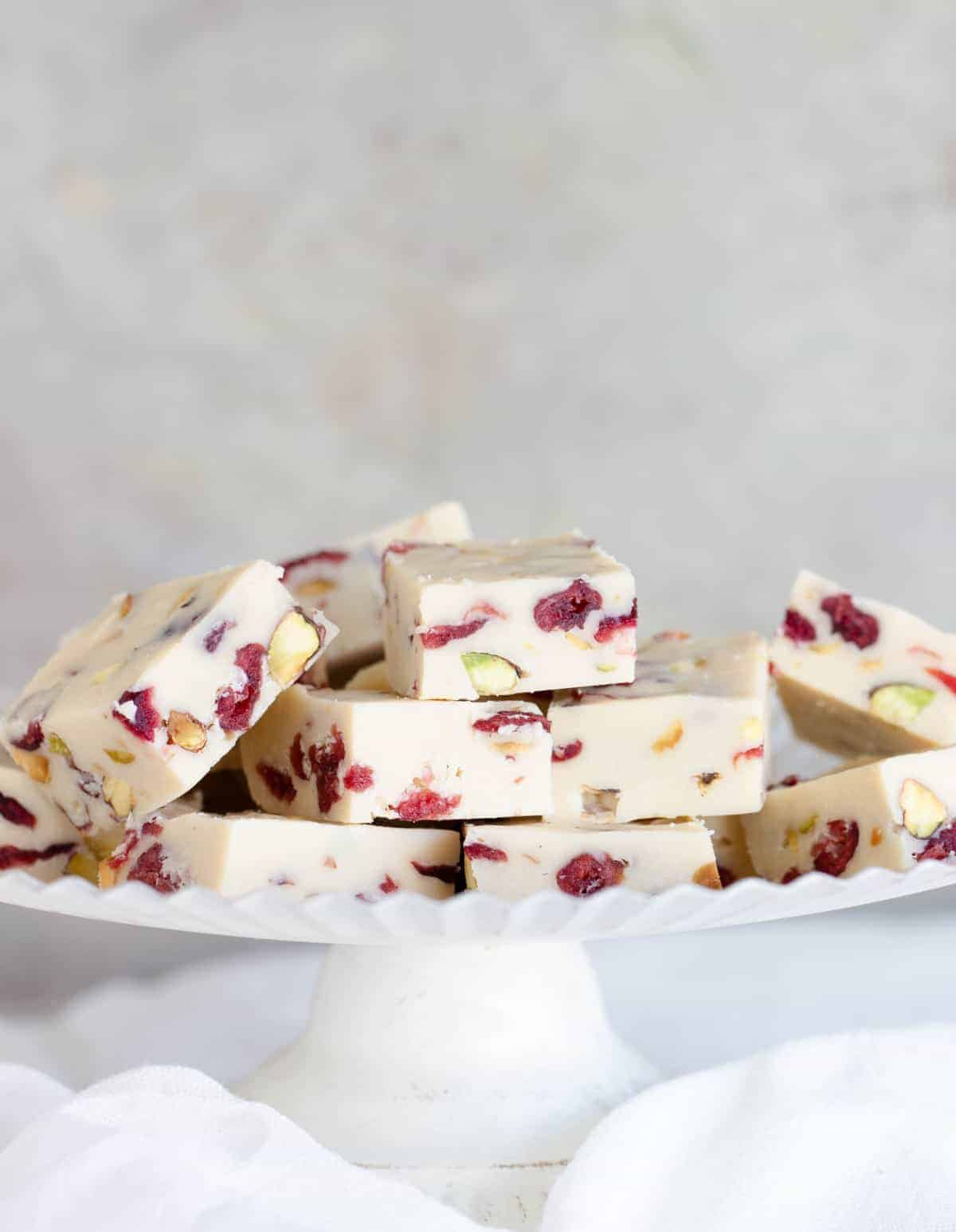 Easy white chocolate fudge