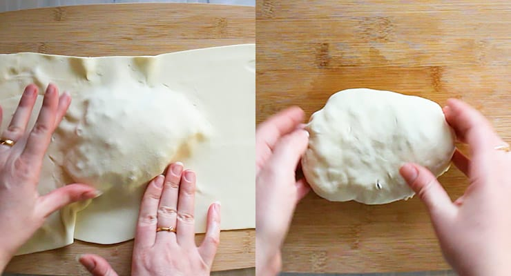 wrap puff pastry around beef