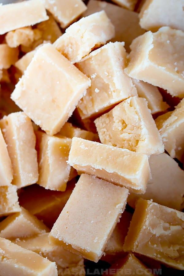 caramel candy square shaped