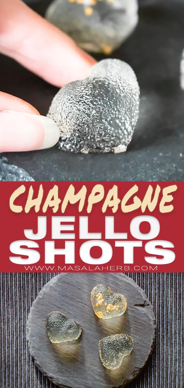 jello shots with champagne or prosecco pin