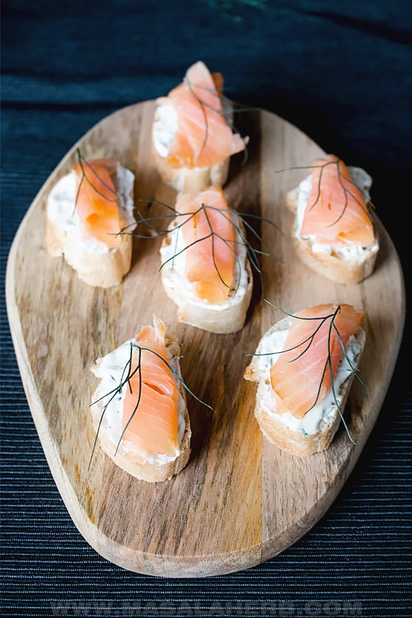 salmon hors d'oeuvres