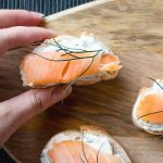 smoked salmon with sour cream dill