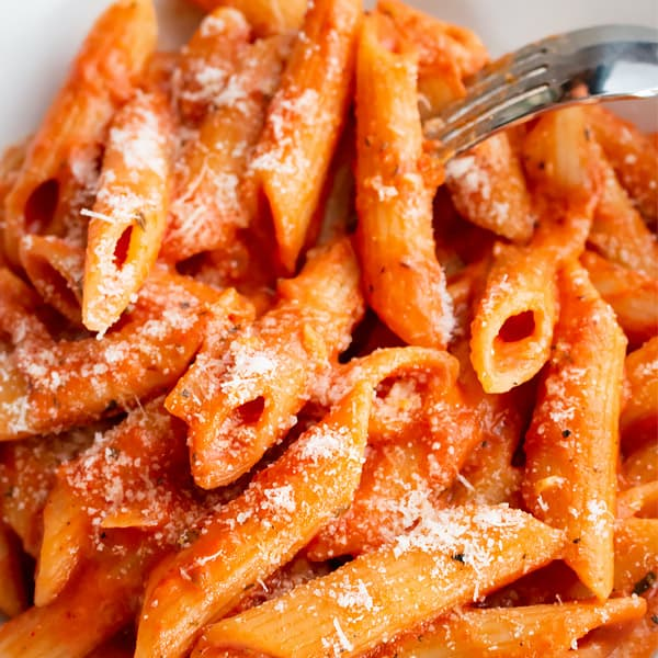 vodka sauce with parmesan