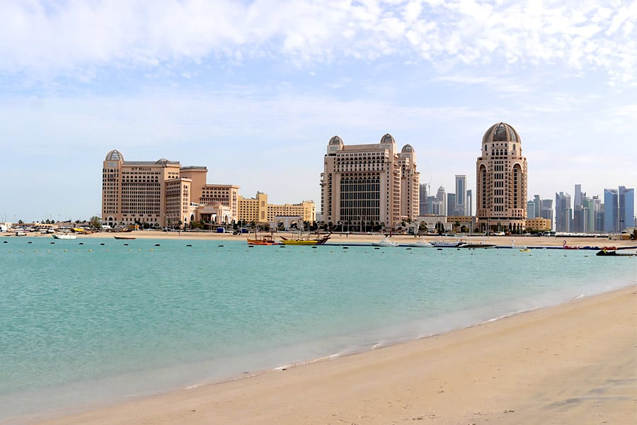 doha beach view in the day