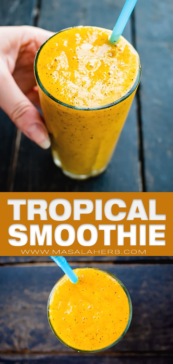 tropical yellow smoothie pin