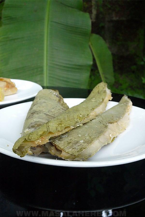 turmeric leave dessert