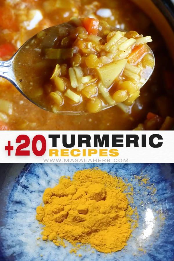 Turmeric Spice, Uses + Recipes pin