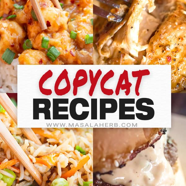 +20 Copycat Restaurant Recipes to get through these tough times