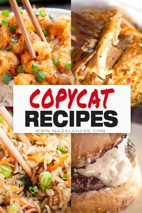 Picture of +20 Copycat Restaurant Recipes to get through these tough times