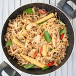 drunken noodles prepared from scratch