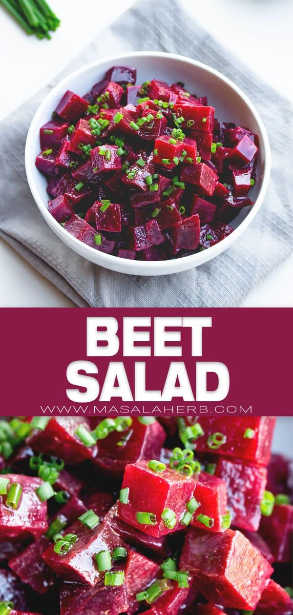 Simple Beet Salad Recipe With Dressing Masalaherb Com