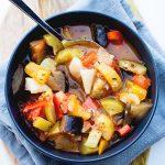 spoonful of ratatouille stew