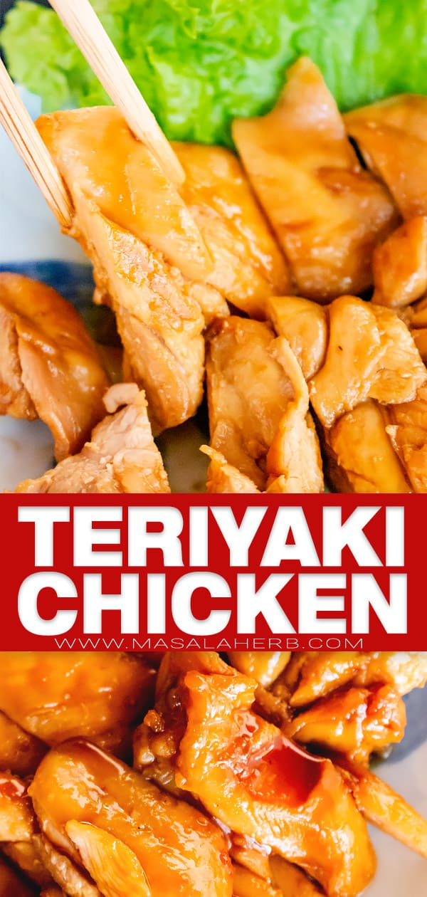 teriyaki chicken pin image
