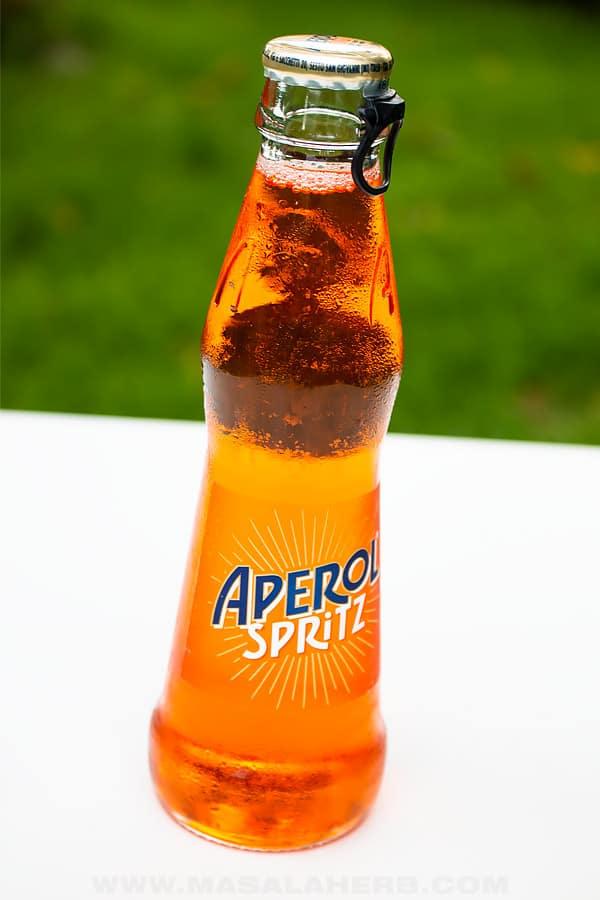 aperol spritz in a bottle