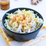 serving of napa cabbage with ginger dressing