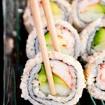 inside out sushi with surimi