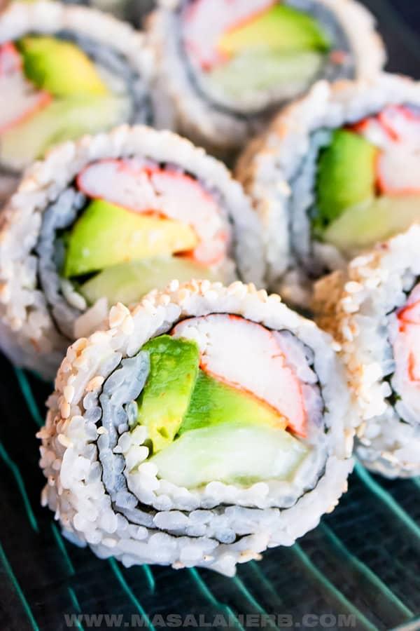 california sushi inside out