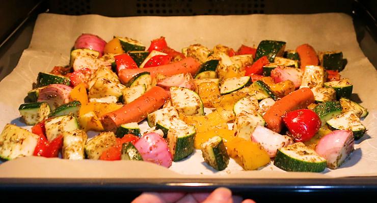 roast veggies in the oven