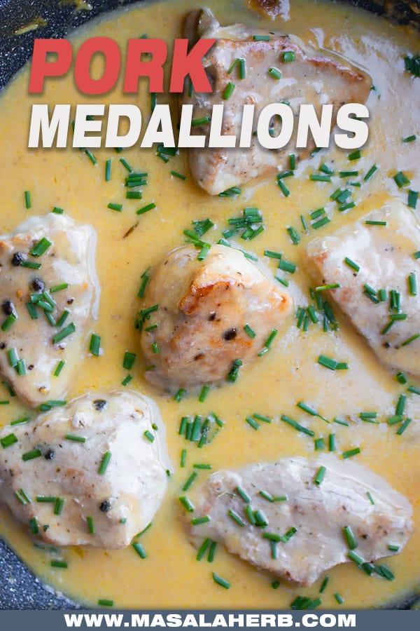 one pan pork medallions in sauce