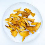 dehydrated mango slices prepared in the dehydrator