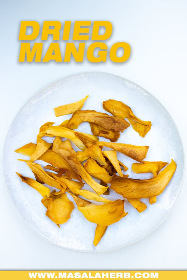 dried mangoes in a plate