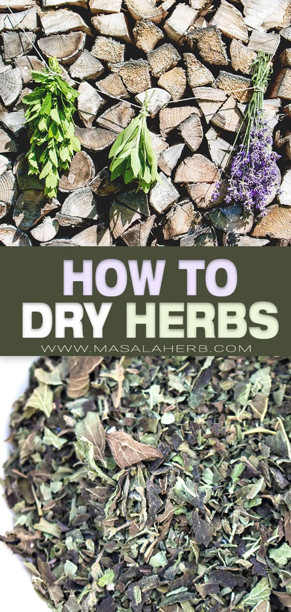 How to Dry Herbs pin image