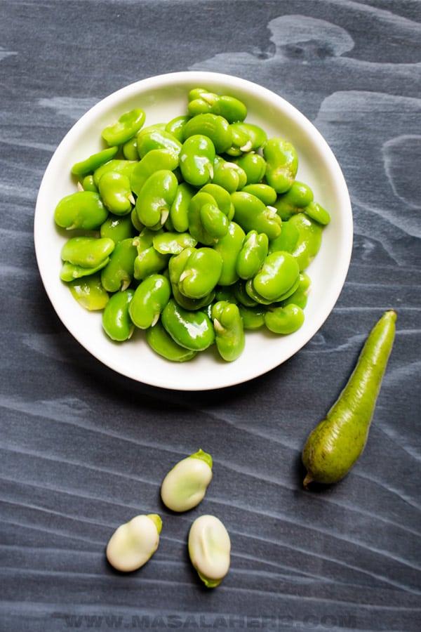 peeled vs unpeeled broad beans