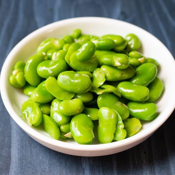 peeled fava beans
