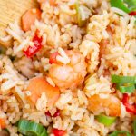 asian fried rice with shrimps