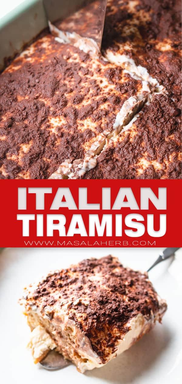 Italian Tiramisu Recipe pin image