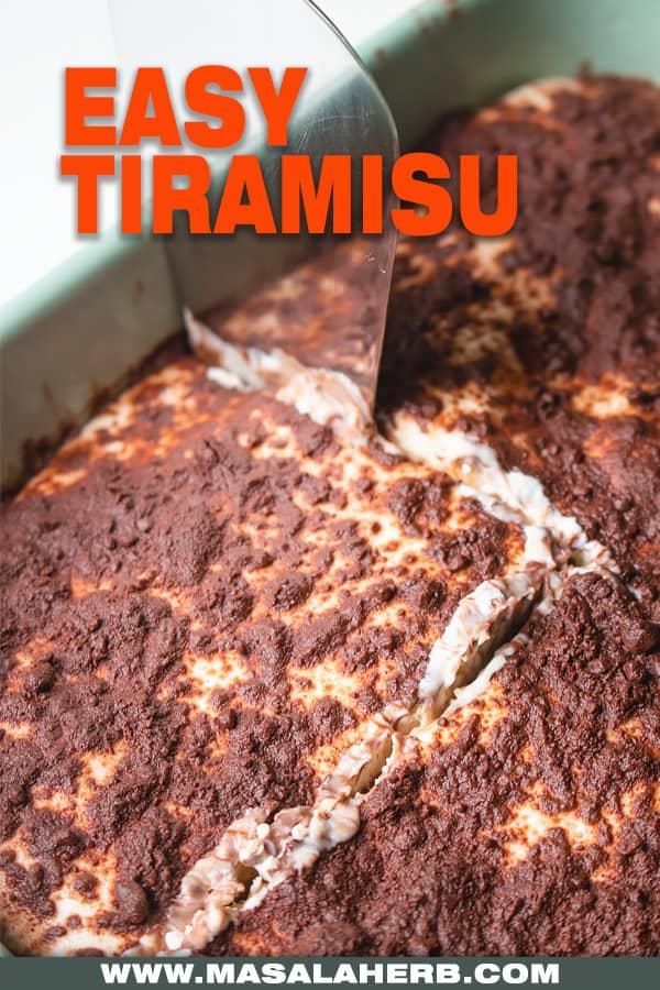 Italian Tiramisu Recipe in casserole dish
