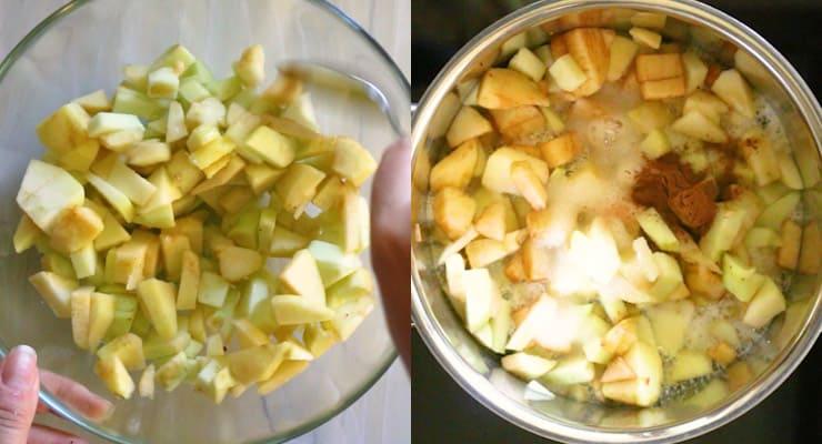 cook apple with seasoning