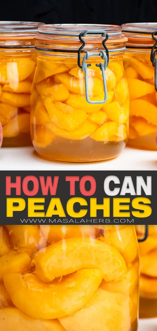 how to can peaches pin image