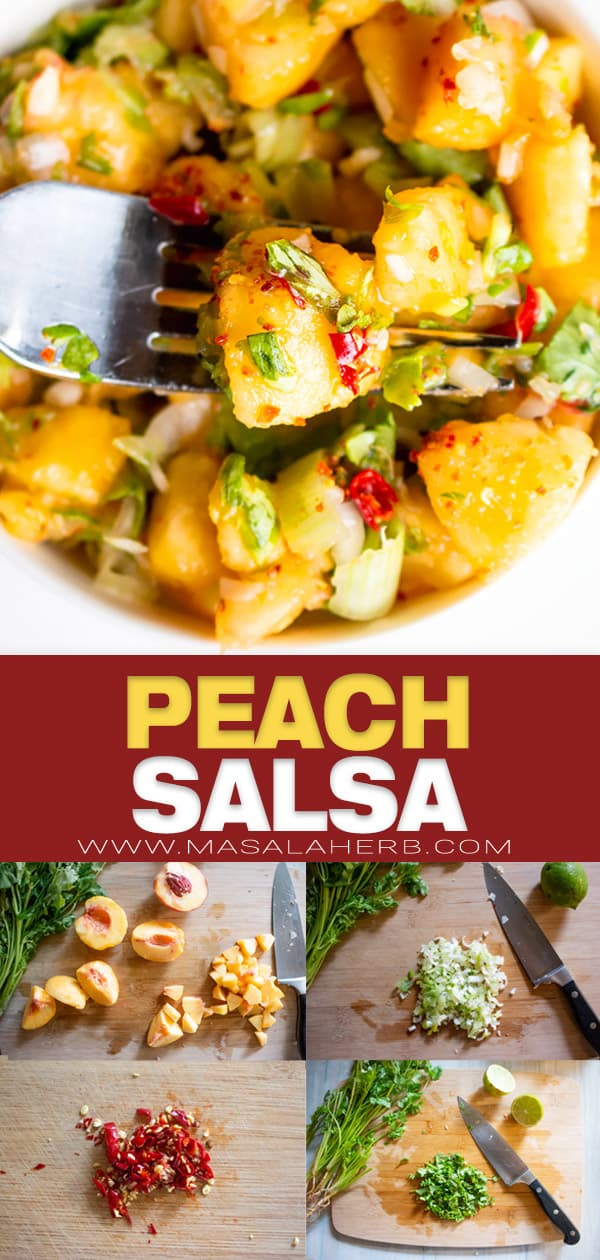 Peach Salsa Recipe pin image