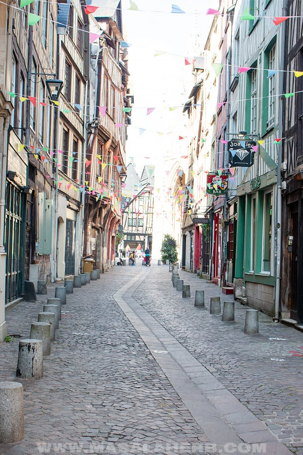 roads in central rouen