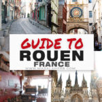 Guide to Rouen France in collage